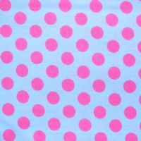 PET BED - STENZO PINK POLKA DOTS ON LIGHT BLUE